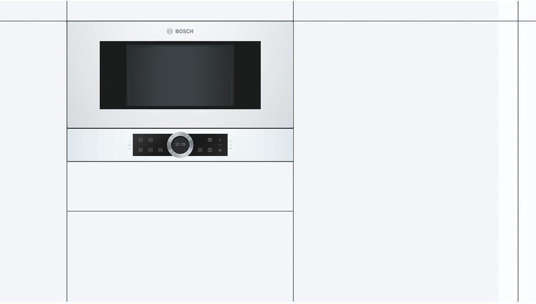 bosch bfl634gw1 einbau mikrowelle polar wei von bosch gro ger te bei elektroshop wagner. Black Bedroom Furniture Sets. Home Design Ideas