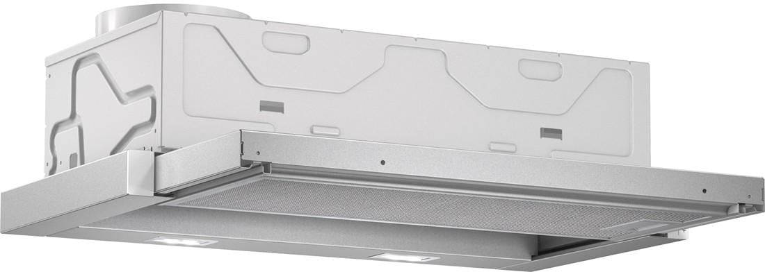 bosch dfl064a50 flachschirmhaube eek a 60 cm ab umluft grau metallic ecosilence drive. Black Bedroom Furniture Sets. Home Design Ideas