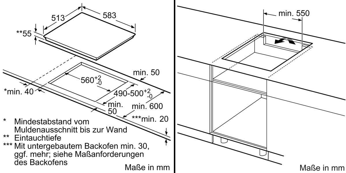 Neff Tbt5660n T56bt60n0 Autarkes Induktions Kochfeld Glaskeramik