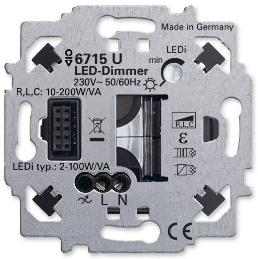 busch jaeger 6715 u led dimmer einsatz zigbee light link. Black Bedroom Furniture Sets. Home Design Ideas