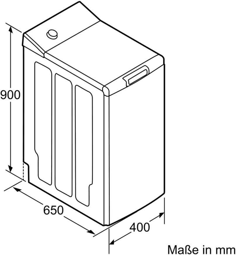 Top Siemens WP12T227 7 kg A+++ Toplader Waschmaschine, 1200 U/min ID54