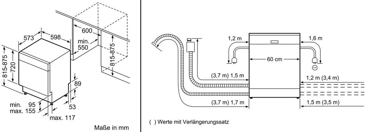 siemens sn436s01ge a unterbau geschirrsp ler edelstahl. Black Bedroom Furniture Sets. Home Design Ideas