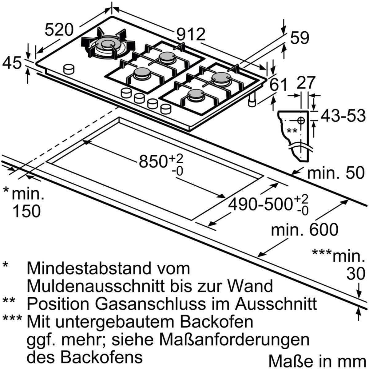siemens er9a6sd70d autarkes gas kochfeld glaskeramik 90 cm breit rahmenlos schaltknebel von. Black Bedroom Furniture Sets. Home Design Ideas