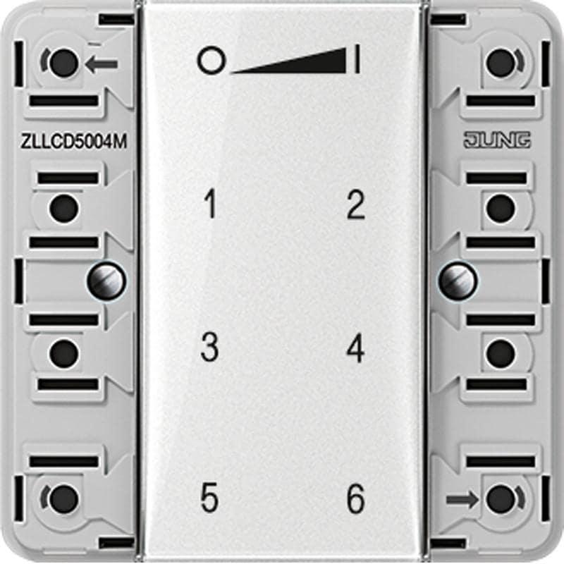 Jung ZLLCD5004M ZigBee Funk-Wandsender-Modul 4fach von Jung Premium ...