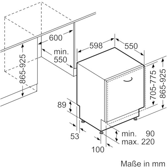 neff gx 6801 t a vollintegrierbarer geschirrsp ler 14 ma gedecke 60 cm breit aquastop. Black Bedroom Furniture Sets. Home Design Ideas