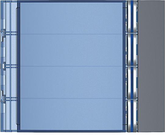 1-modulig Ruftastenmodul mit 4 Ruftasten f/ür Sfera-Sprechanlagen