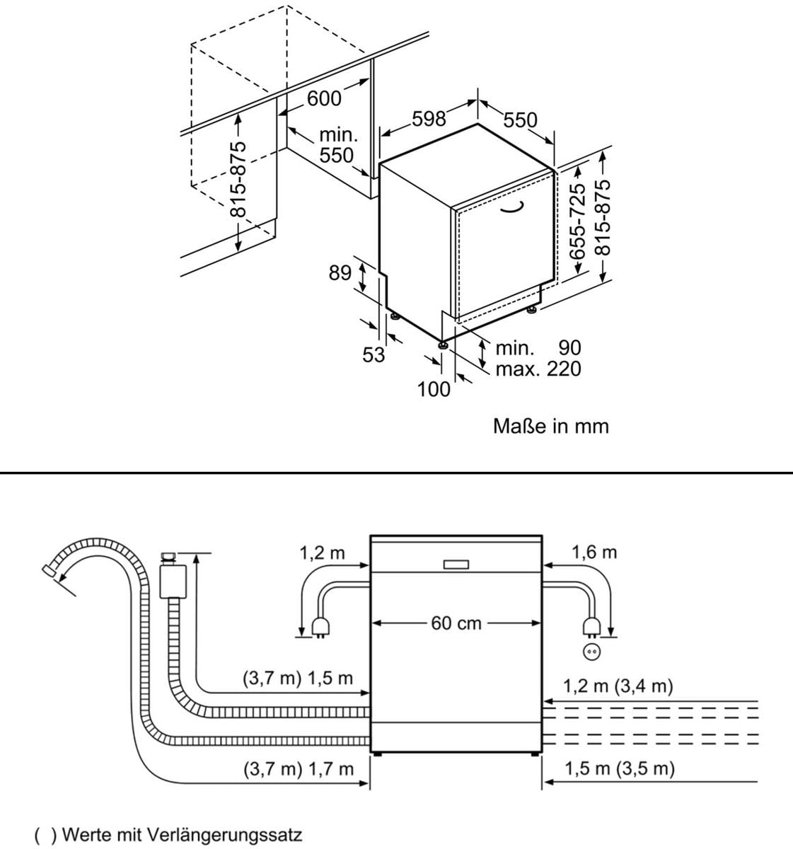 siemens sn636x01ce a vollintegrierbarer geschirrsp ler 60 cm breit 13 ma gedecke aquastop. Black Bedroom Furniture Sets. Home Design Ideas