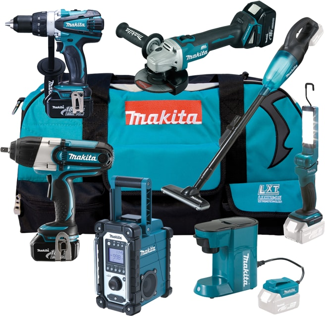 makita dlx7012t akku maschinen set 3x5 0 ah 18 v inkl ladeger t von makita bei elektroshop wagner. Black Bedroom Furniture Sets. Home Design Ideas