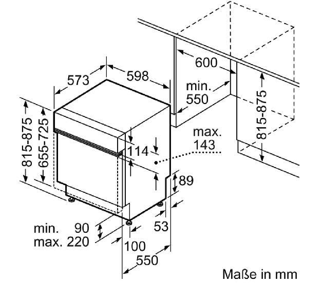 Bosch SMI68TS06E A+++ Integrierbarer Einbau-Geschirrspüler, 60 cm ... | {Einbaugeschirrspüler 86}