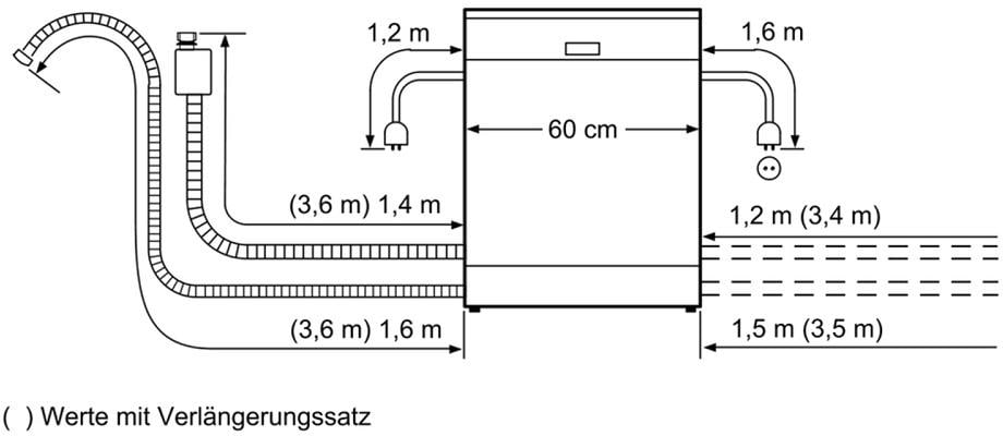 bosch smi68ts06e a integrierbarer einbau geschirrsp ler 60 cm breit perfectdry von bosch. Black Bedroom Furniture Sets. Home Design Ideas