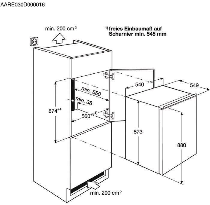 aeg sfb58831as a einbau k hlschrank 54cm breit 2x eierablage von aeg gro ger te bei. Black Bedroom Furniture Sets. Home Design Ideas