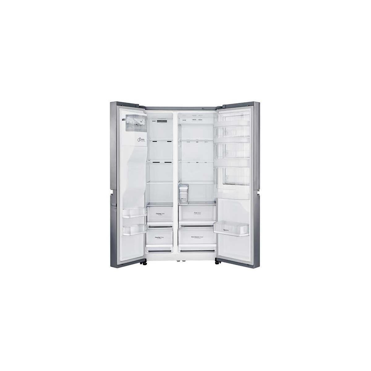 lg gsj 461 didv a side by side k hl gefrierkombination 912 mm breit nofrost edelstahl. Black Bedroom Furniture Sets. Home Design Ideas