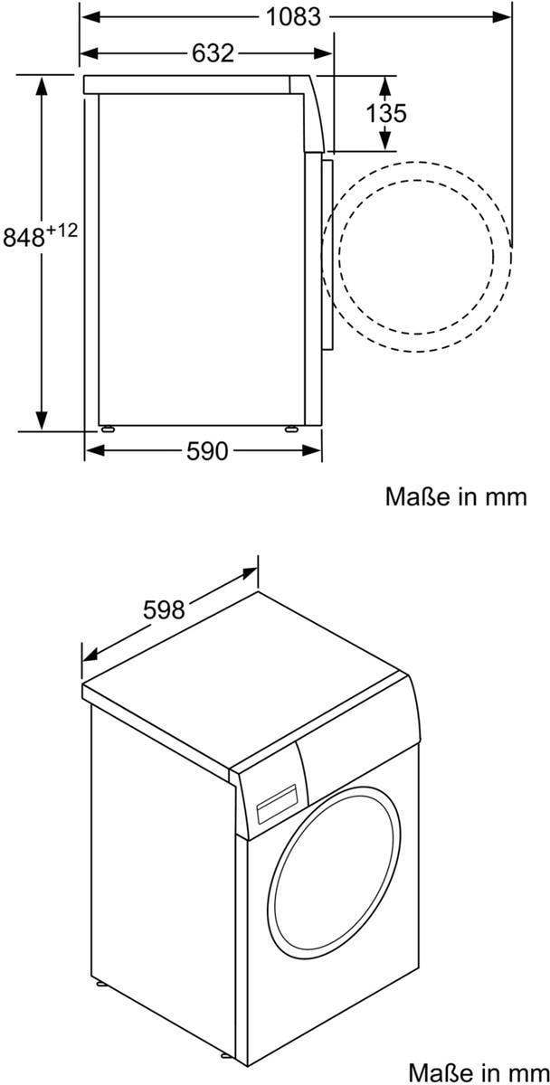Gut gemocht Bosch WAW28570 8 kg, A+++ Waschmaschine, 1400 U/min, Vario Perfect QK29
