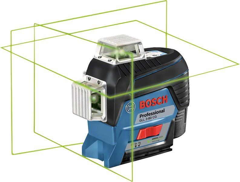 Bosch Laser Entfernungsmesser Grün Oder Blau : Bosch gll cg linienlaser arbeitsbereich m inkl x