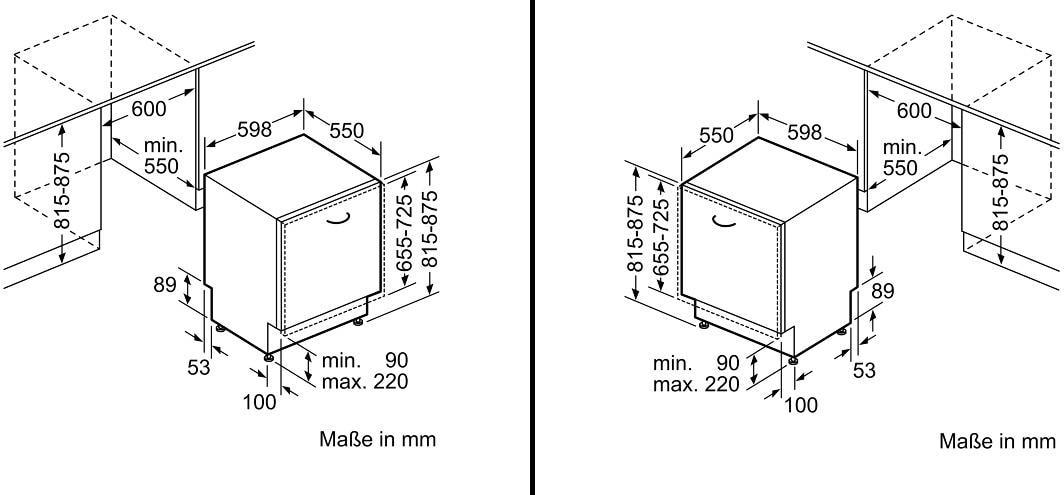 Neff Gv3600k Edelstahl A Vollintegrierbarer Einbau Geschirrspuler