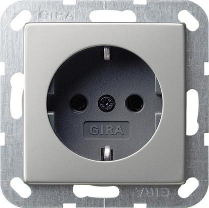 Gira 0188600 SCHUKO-Steckdose 16 A 250 V~, System 55, edelstahl
