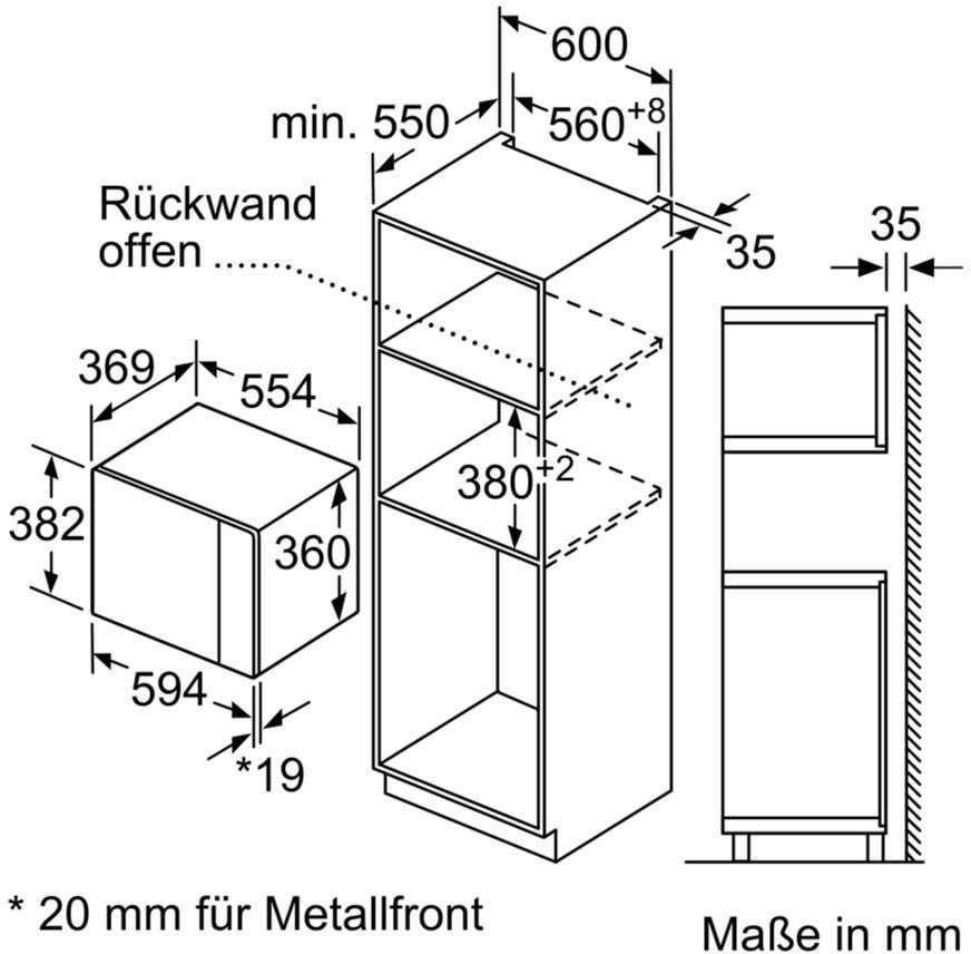 neff hwb53 einbau mikrowelle hlawd53n0 900 watt schwarz automatikprogramme easyclock 38. Black Bedroom Furniture Sets. Home Design Ideas