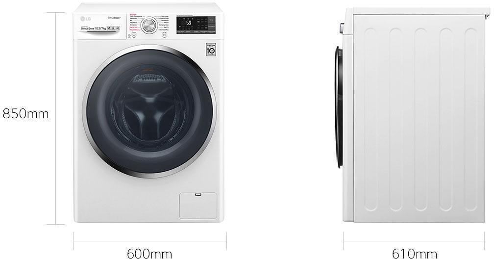 Lg ftwd107th2 10 5 kg 7 kg eek: a waschtrockner 1400 u min