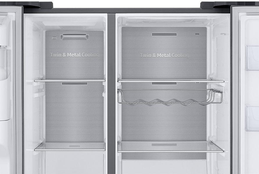Side By Side Kühlschrank Ausstellungsstück : Samsung rs n sl a side by side cm breit family hub