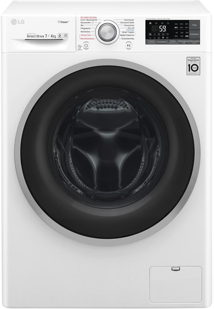 LG F12WD74SLIM 7 kg/4 kg EEK: B Waschtrockner, Steam Funktion ...
