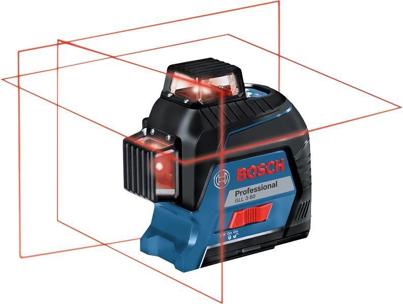 Laser Entfernungsmesser Linienlaser : Bosch gll professional linienlaser in handwerkerkoffer mit