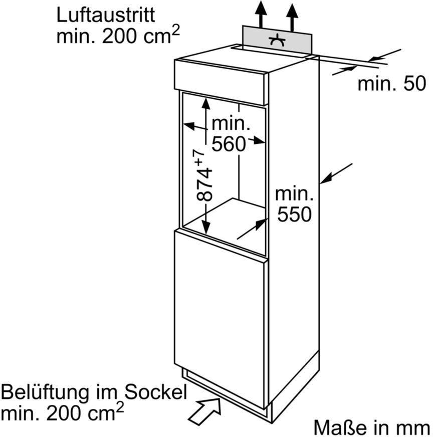 Bosch Kir18x30 A Integrierbarer Einbau Kuhlschrank 54 Cm Breit