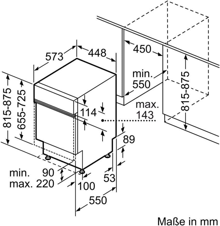 Häufig Siemens SR536S02IE iQ300 A++ Integrierbarer Einbau-Geschirrspüler VR98