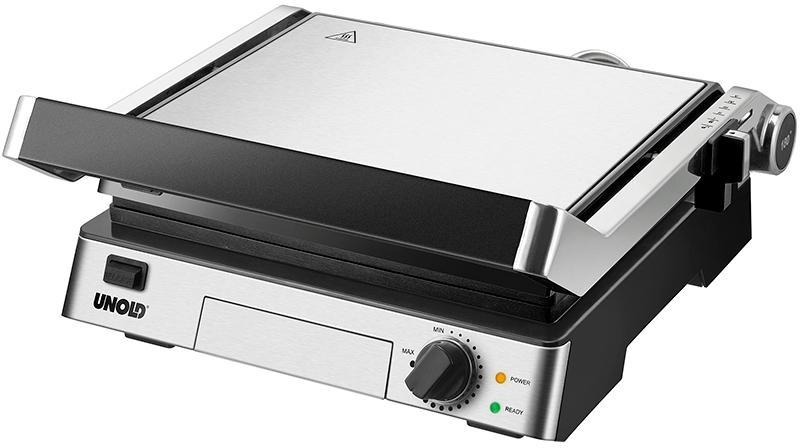 Unold Elektrogrill Test : Unold contact grill steak 2000w aufklappbar edelstahl schwarz