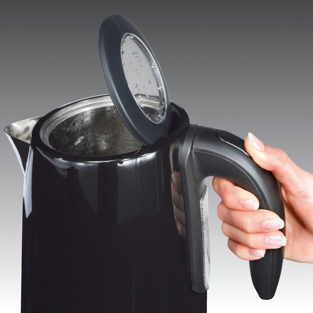 Cloer Touch Wasserkocher 4950 Schwarz hochglänzend LED-Anzeige