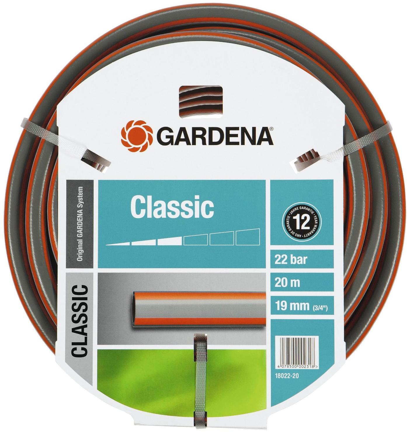 gardena classic schlauch gardena 18022 20 19 mm 3 4. Black Bedroom Furniture Sets. Home Design Ideas