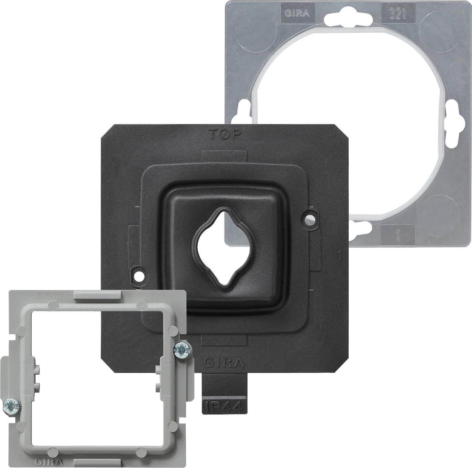dichtungsset ip 44 f r wippschalter und wipptaster standard 55 e2 gira 025127 von gira bei. Black Bedroom Furniture Sets. Home Design Ideas