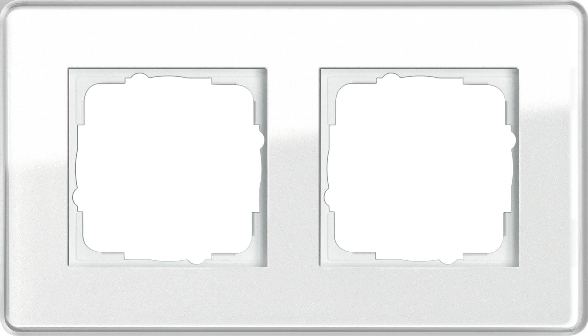 abdeckrahmen 2fach glas c wei esprit gira 0212512 von. Black Bedroom Furniture Sets. Home Design Ideas