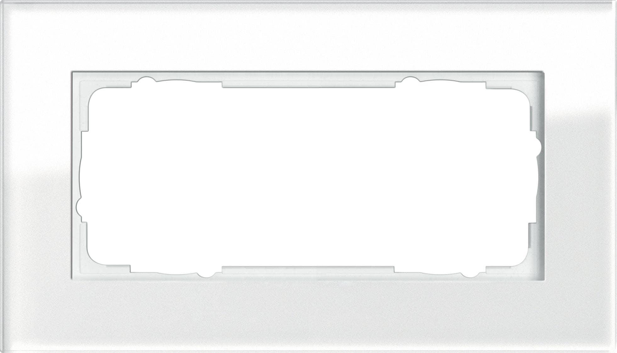 abdeckrahmen ohne mittelsteg 2fach glas wei system 55 esprit gira 100212 von gira bei. Black Bedroom Furniture Sets. Home Design Ideas