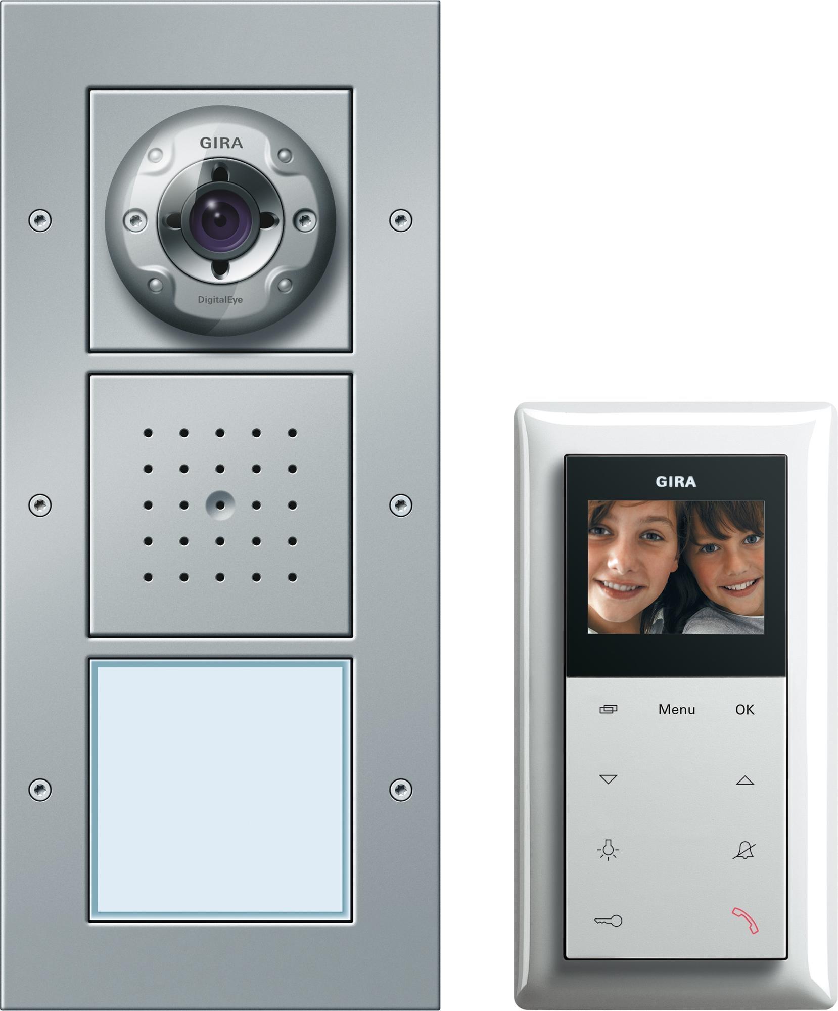 gira 049545 einfamilienhaus paket video t rstation von. Black Bedroom Furniture Sets. Home Design Ideas
