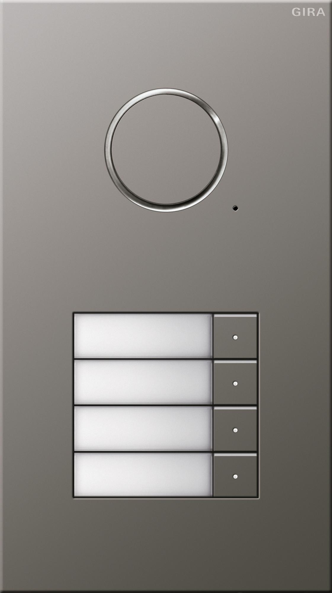 t rstation edelstahl 4fach gira 250420 von gira. Black Bedroom Furniture Sets. Home Design Ideas