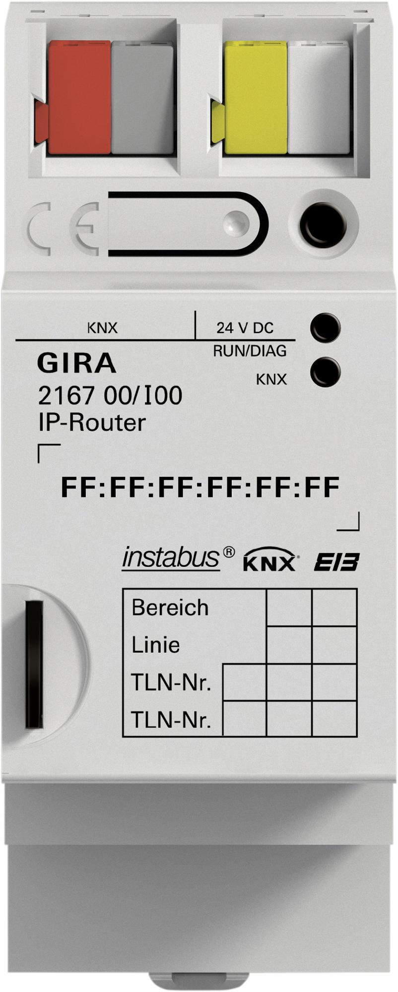 knx ip router gira 216700 von gira premium bei elektroshop wagner. Black Bedroom Furniture Sets. Home Design Ideas