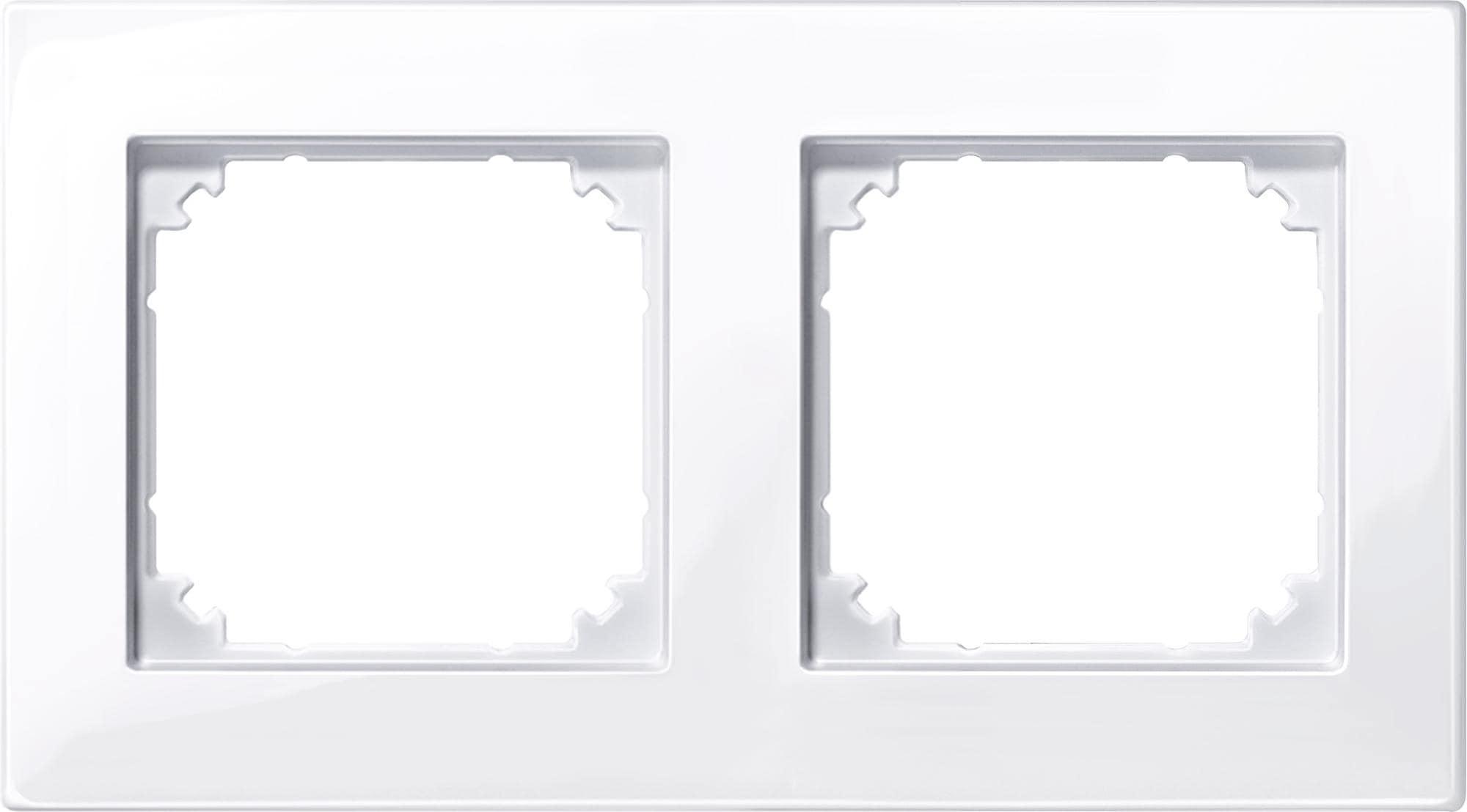 Merten M-Plan Rahmen 2fach System M 486260 Aluminium