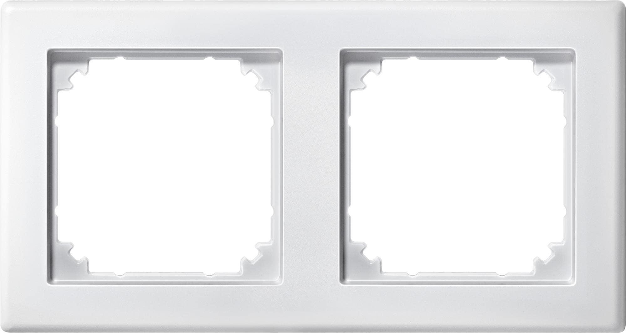2fach rahmen merten 484219 m smart polarwei matt von. Black Bedroom Furniture Sets. Home Design Ideas