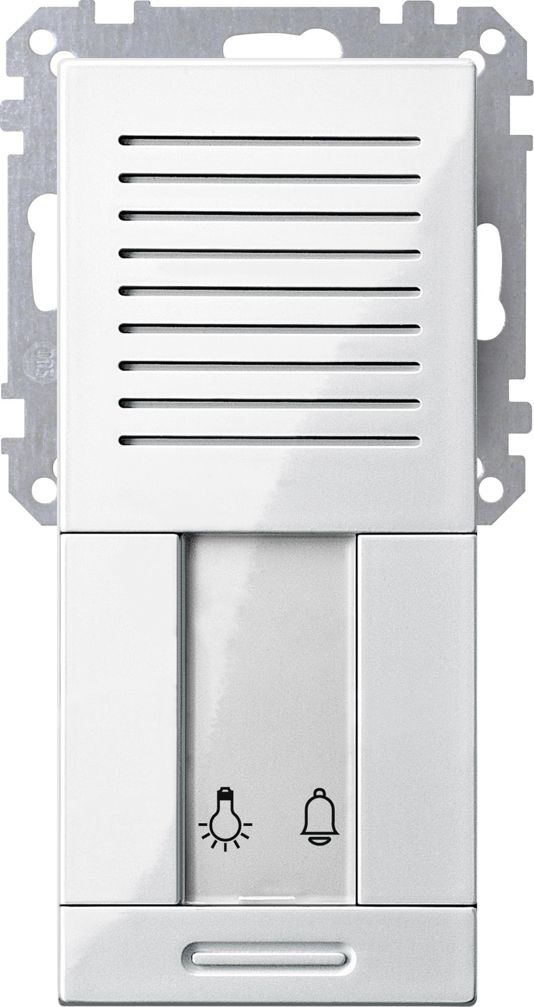 Treppenhaus technische zeichnung  Treppenhaus-Türstation UP, Polarweiß glänzend, Merten 700519 von ...