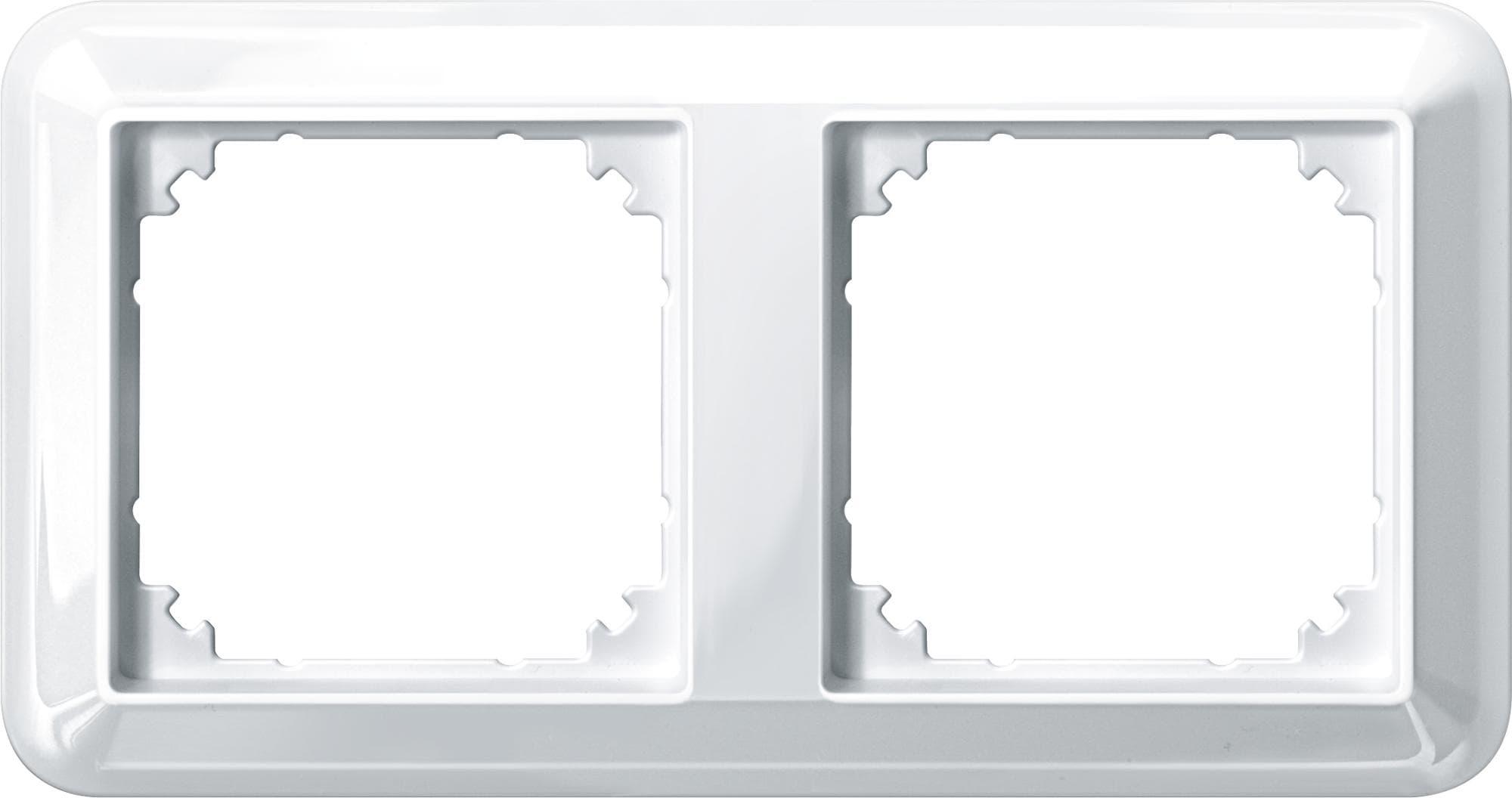 ATELIER-M-Rahmen, 2fach, Polarweiß glänzend, Merten 388219 von ...