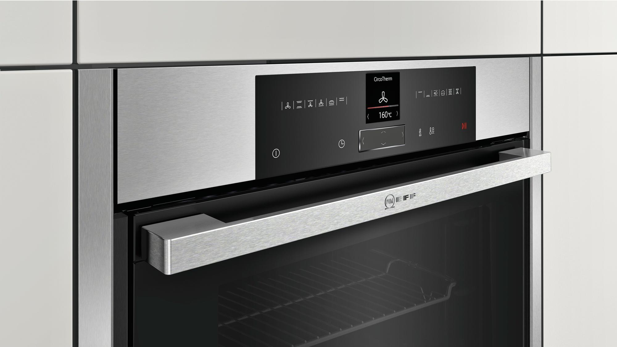 neff bcr4522n a einbau backofen 71 l 56 cm breit sensor tasten edelstahl von neff bei. Black Bedroom Furniture Sets. Home Design Ideas