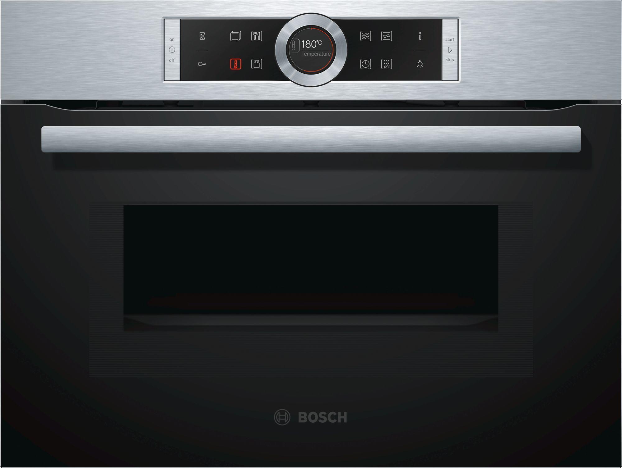 Bosch Cmg633bs1 Einbau Kompakt Backofen Mit Mikrowelle 45 L