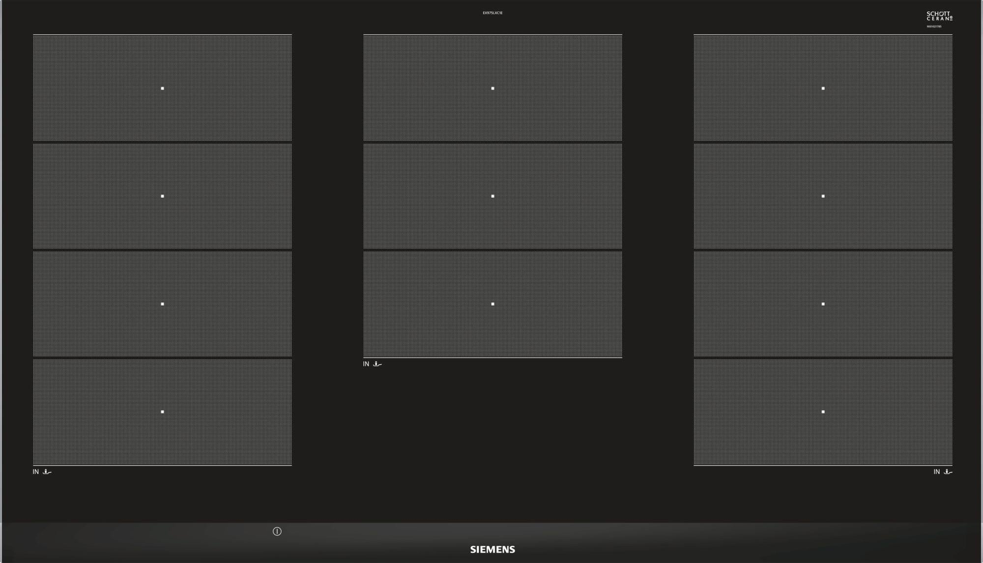 siemens ex975lxc1e iq700 autarkes induktions kochfeld 90 cm von siemens gro ger te bei. Black Bedroom Furniture Sets. Home Design Ideas