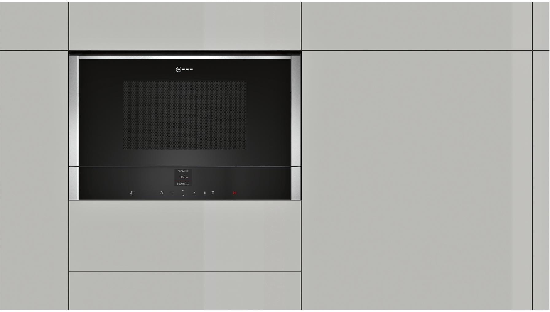 neff cgr 1701 n einbau mikrowelle c17gr01n0 von neff bei elektroshop wagner. Black Bedroom Furniture Sets. Home Design Ideas