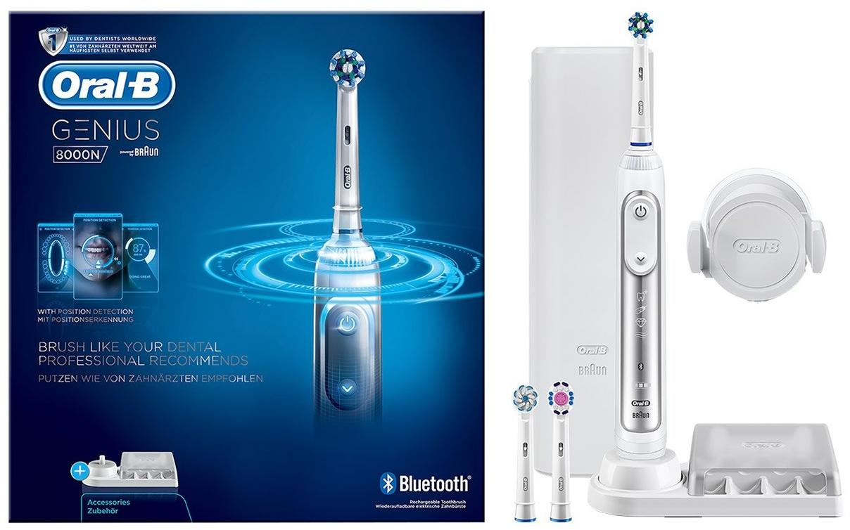 braun oral b genius 8000 crossaction elektrische zahnb rste white akkubetrieb von braun bei. Black Bedroom Furniture Sets. Home Design Ideas