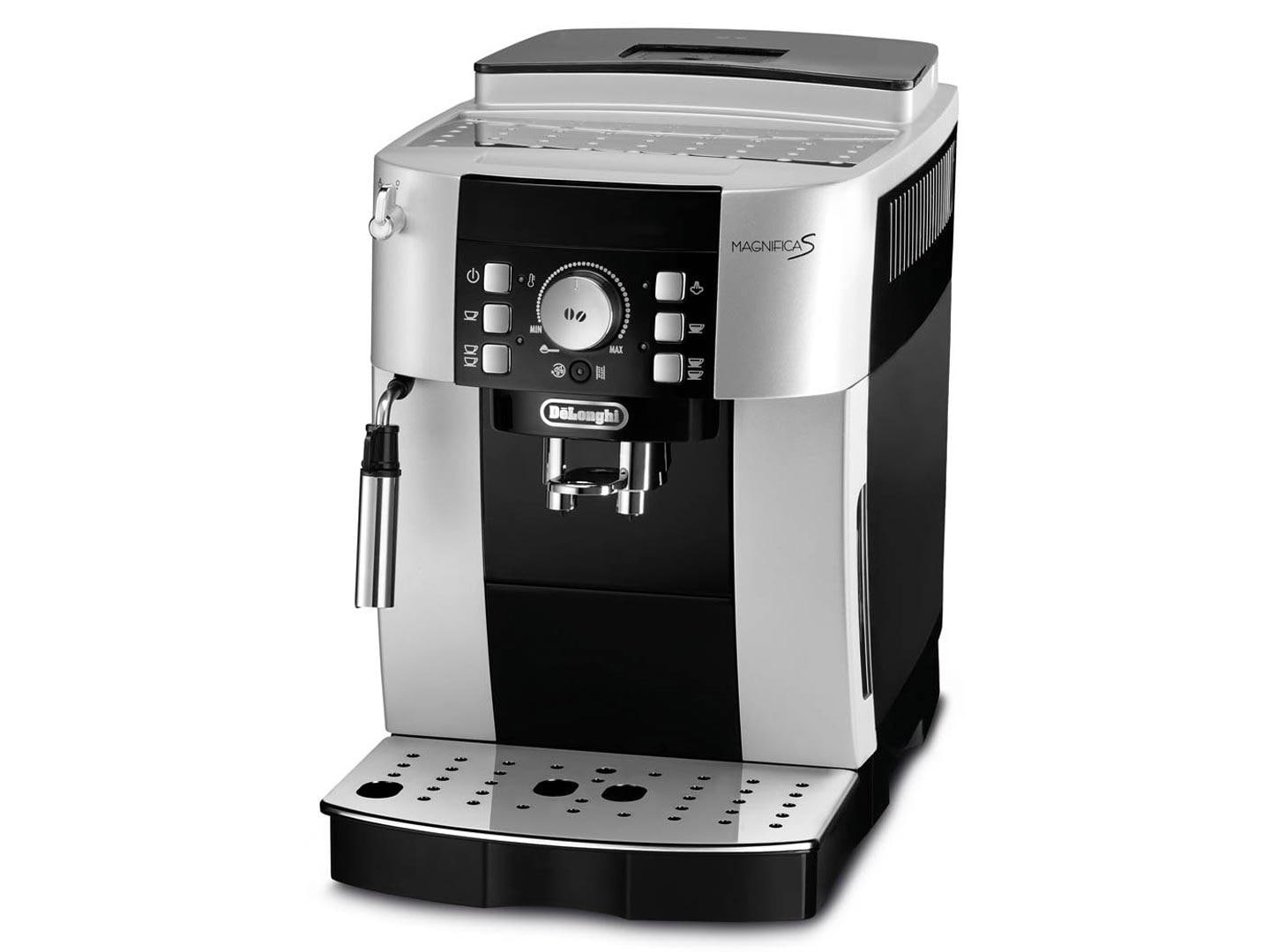 delonghi ecam magnifica s 15 bar kaffeevollautomat direktwahltasten silber schwarz. Black Bedroom Furniture Sets. Home Design Ideas
