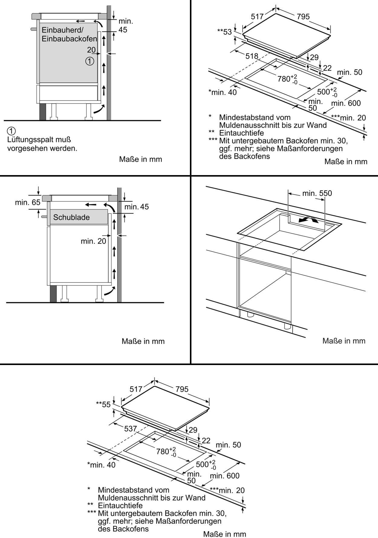 Bosch Piv845fb1e Autarkes Induktions Kochfeld Glaskeramik 80 Cm