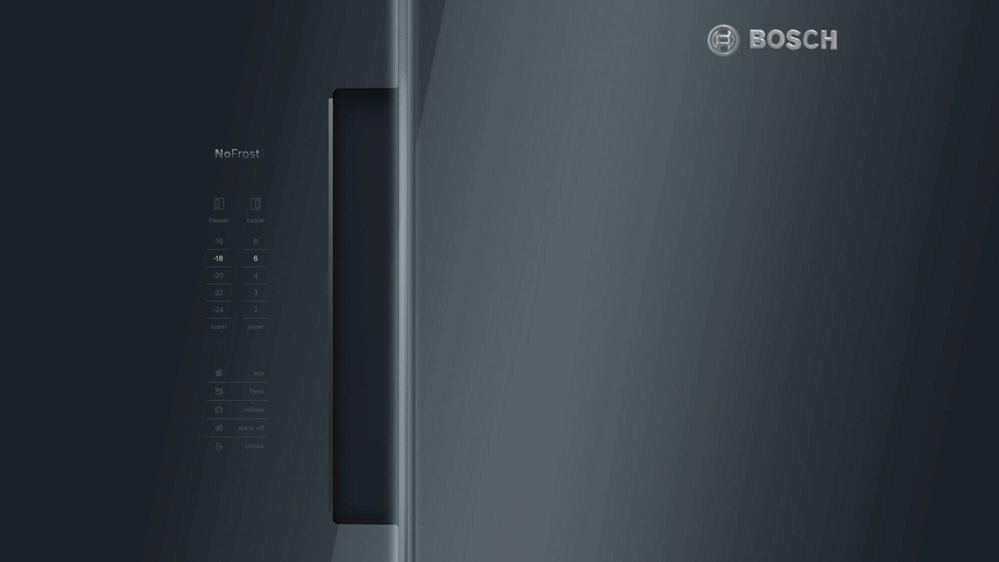 Side By Side Kühlschrank 85 Cm Breit : Bosch kan lb a side by side kühl gefrierkombination schwarz