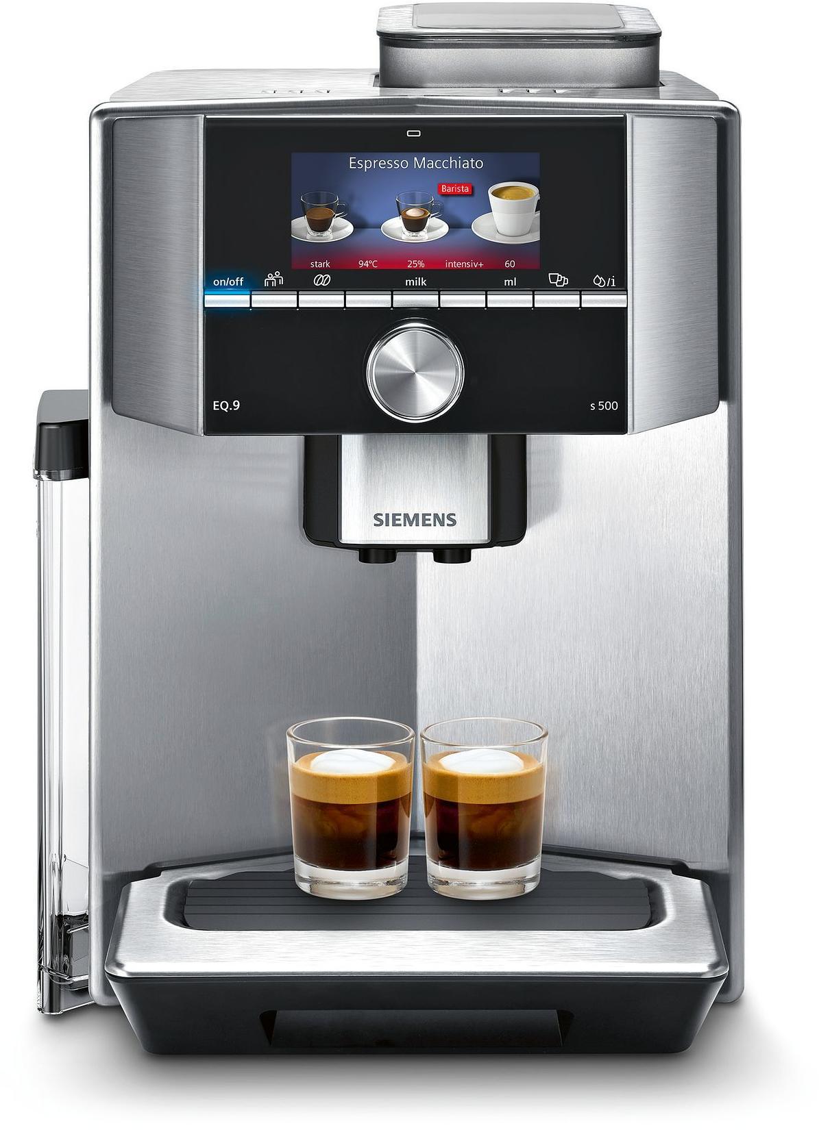 siemens ti915531de eq 9 s500 19 bar kaffeevollautomat one touch silber tft display von. Black Bedroom Furniture Sets. Home Design Ideas