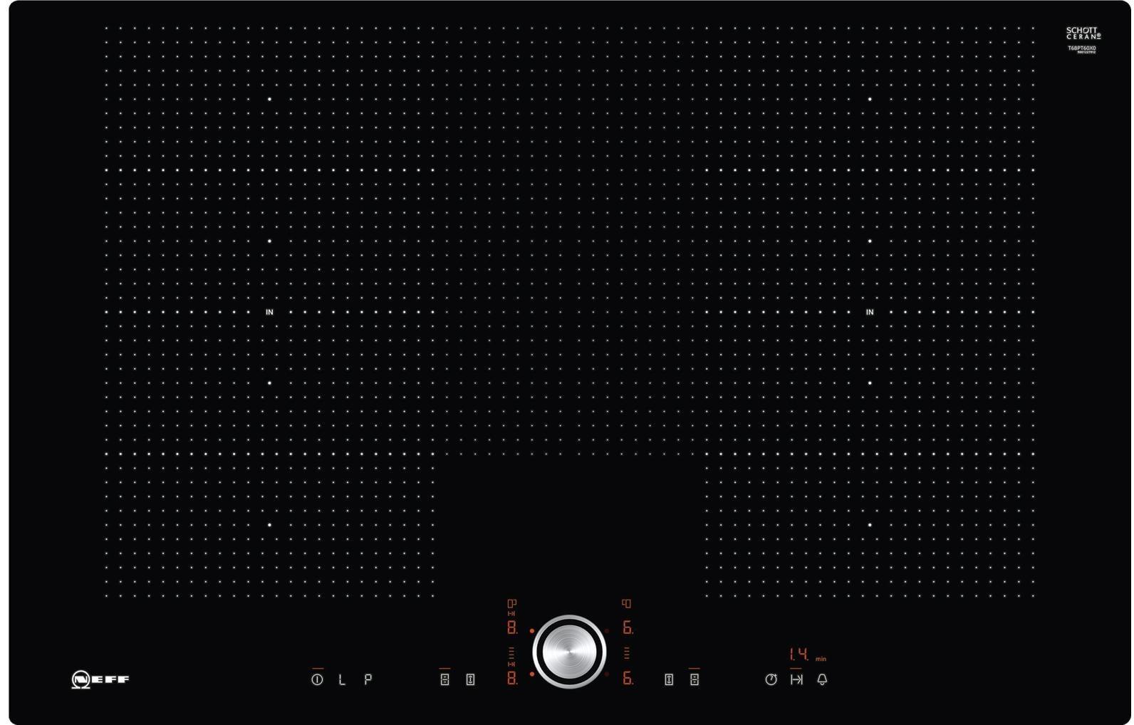 neff tpt 6860 x t68pt60x0 autarkes induktions kochfeld glaskeramik fl chenb ndig schwarz. Black Bedroom Furniture Sets. Home Design Ideas